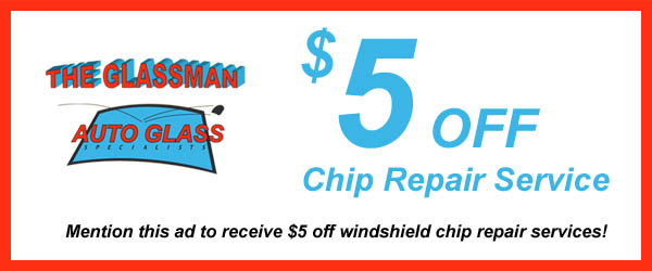 Mention this ad to receive $5 off windshield chip repair services